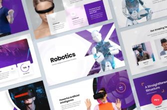 Robotics – Artificial intelligence PowerPoint Presentation Template