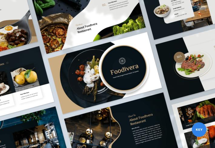 Foodivera – Food and Beverages Keynote Presentation Template