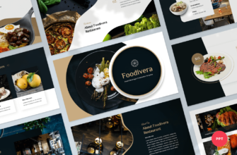 Foodivera – Food and Beverages PowerPoint Presentation Template